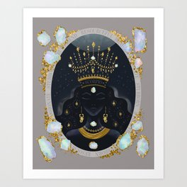 Scorpio Zodiac Queen   October Birthday   Opal Birthstone Art Print