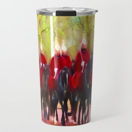 The Queens life guards on the Mall Travel Mug