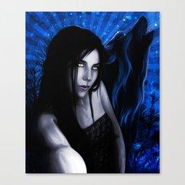 SheWolf MoonSpell Canvas Print