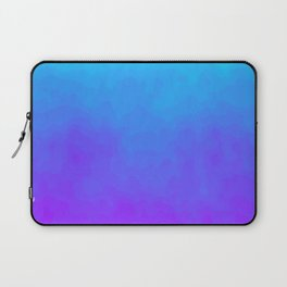 Blue and Purple Ombre - Swirly Laptop Sleeve