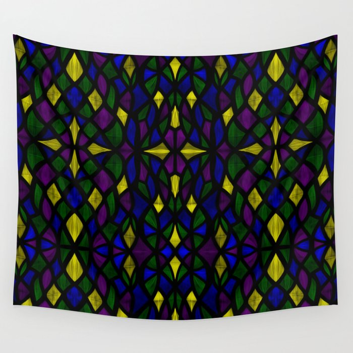 Stained Glass Scales Wall Tapestry