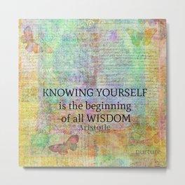 Aristotle WISDOM quote Metal Print