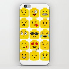 Emoji-Minifigure iPhone & iPod Skin