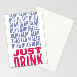 Just Drink Stationery Cards