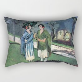 Henri Matisse - Conversation under the Olive Trees - Exhibition Poster Rectangular Pillow