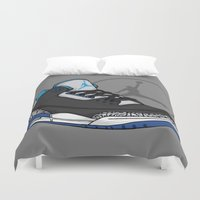 sport Duvet Covers featuring Jordan 3 (Sport Blue) by Pancho the Macho