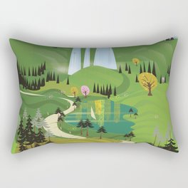 valbona canyon, Albania holiday poster. Rectangular Pillow