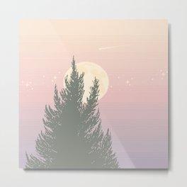 Evening Moonrise Metal Print