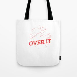 Horses Equestrian Horseback Riding Farm Animal Lovers Just Get Over It Gift Tote Bag