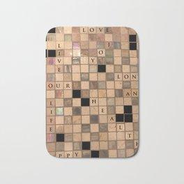 CROSSWORD LOVE Bath Mat