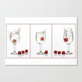 Strawberry Splashes Canvas Print
