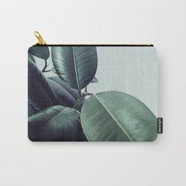 Ficus Elastica #22 #LightGreen #foliage #decor #art #society6 Carry-All Pouch