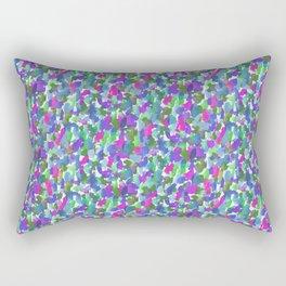 Loose Watercolor Cool Rectangular Pillow