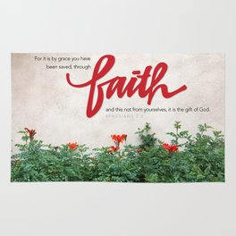 Through faith. Rug