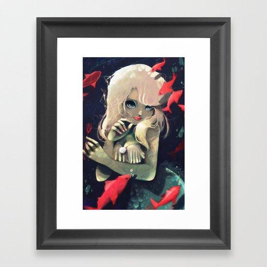 Sirene d'eau douce a la fourchette Framed Art Print