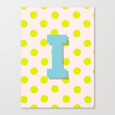 I is for Inspiration Canvas Print