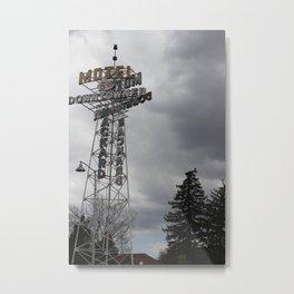 motel downtowner Metal Print