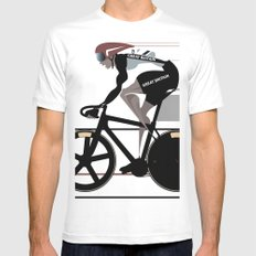Velodrome Mens Fitted Tee White MEDIUM