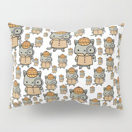 The Cozy Mystery Book Club Mascot | Purrlock Holmes Pillow Sham