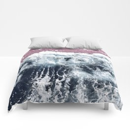 Aerial View of Blue Waves Comforters
