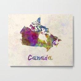 Canada in watercolor Metal Print
