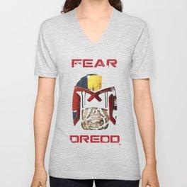 Judge Dredd - Fear Dredd Unisex V-Neck
