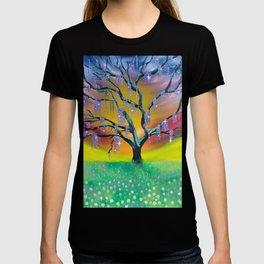 Entanglement, colorful tree landscape, beautiful landscape, cypress tree T-shirt