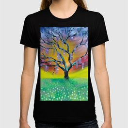 Entanglement, colorful tree landscape, beautiful landscape, cypress tree T-shirt