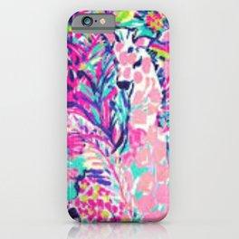 Tropical giraffe iPhone Case