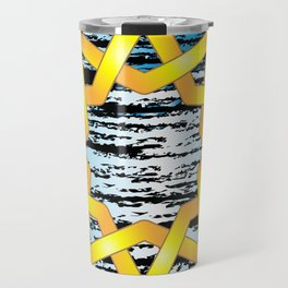 Beautiful angular Celtic style star design Travel Mug