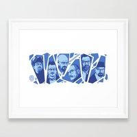 heisenberg Framed Art Prints featuring Heisenberg by El LoCo
