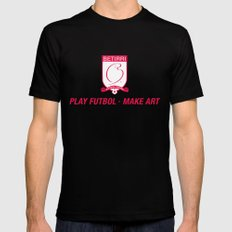 Play Futbol, Make Art Mens Fitted Tee Black SMALL