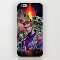 guardians of the galaxy iPhone & iPod Skins featuring Guardians of the Galaxy by Max Grecke