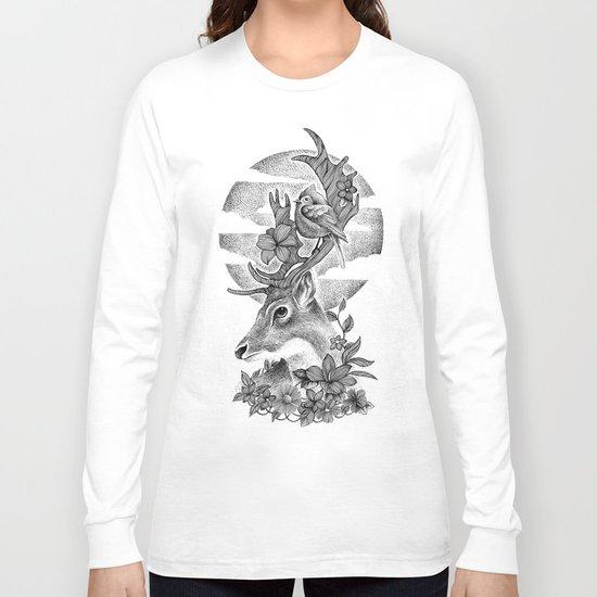 THE DEER AND THE BIRD Long Sleeve T-shirt