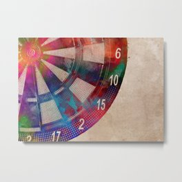 darts sport art #darts #sport Metal Print