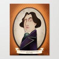 oscar wilde Canvas Prints featuring Oscar Wilde said... by Mrs Peggotty