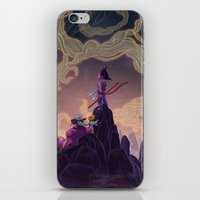 dragonball iPhone & iPod Skins featuring Dragonball - The Journey Begins by Kim Herbst