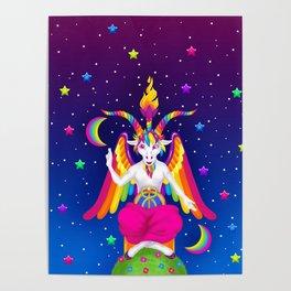 1997 Neon Rainbow Baphomet Poster