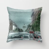 dc Throw Pillows featuring DC Traffic by Geni