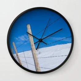 Winter Fence Wall Clock