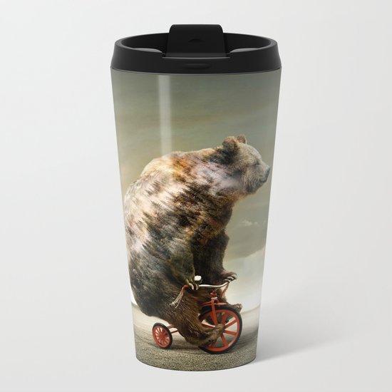Happy Bear Metal Travel Mug