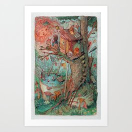The Tree House Art Print