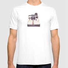 Ballpoint Pen Polaroid White Mens Fitted Tee MEDIUM