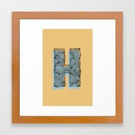 """""""H"""" Doodle Framed Art Print"""