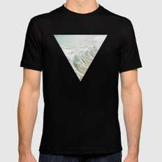 Sea Foam Mens Fitted Tee Black MEDIUM