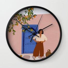 Pink Walls and Morocco Wall Clock