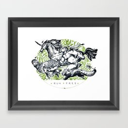 RUN FREE Framed Art Print