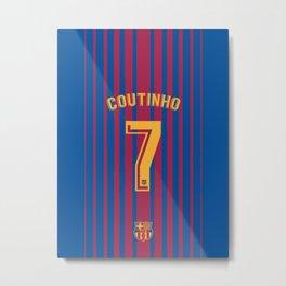 Philippe Coutinho 7 - Barcelona Metal Print