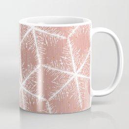 Elegant Geometric Gold Snowflakes Holiday Pattern Coffee Mug