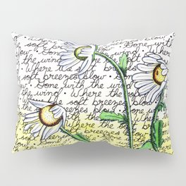 Daisies in the Wind Pillow Sham